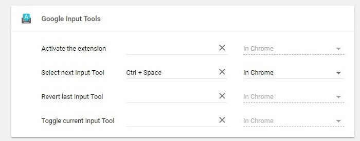 input tools set shortcut key