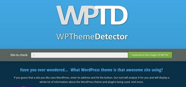 how to detect wp theme using wptd tool
