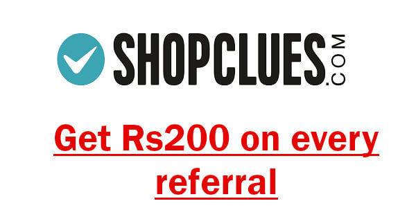 shopclues get rs200 on every referral