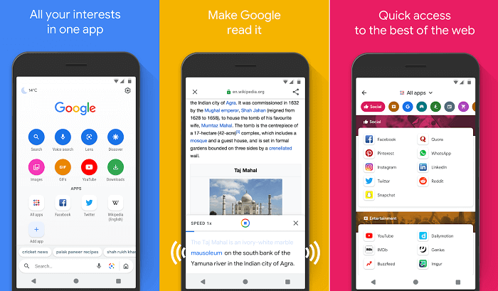 Google Officially launched Google Go Lightweight Fast Search App