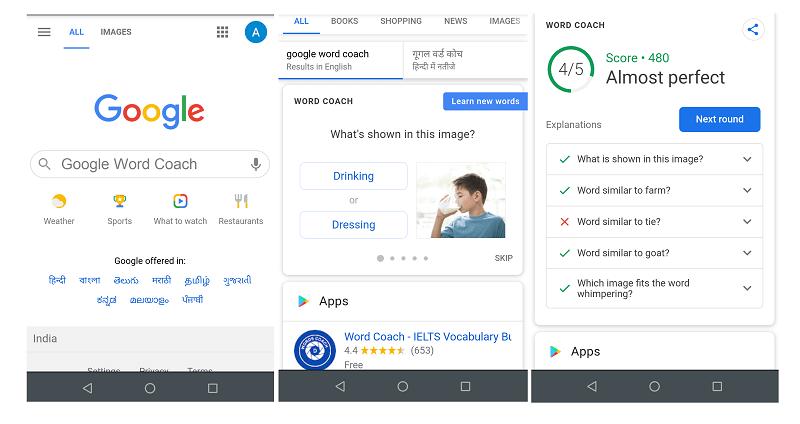 google word coach play method