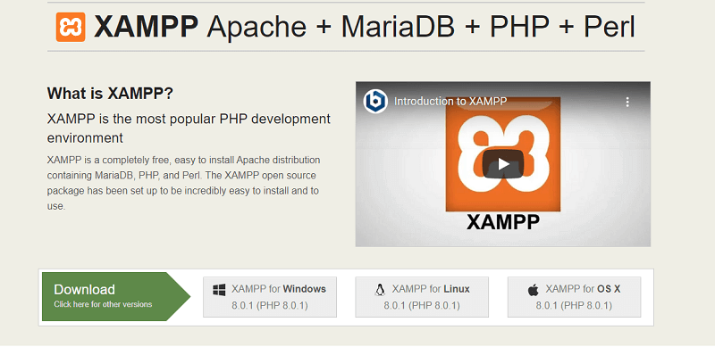 xampp server download in hindi