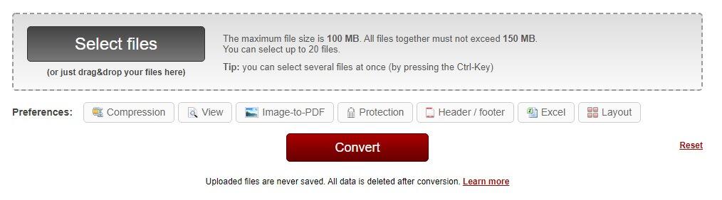online2pdf free pdf file converter