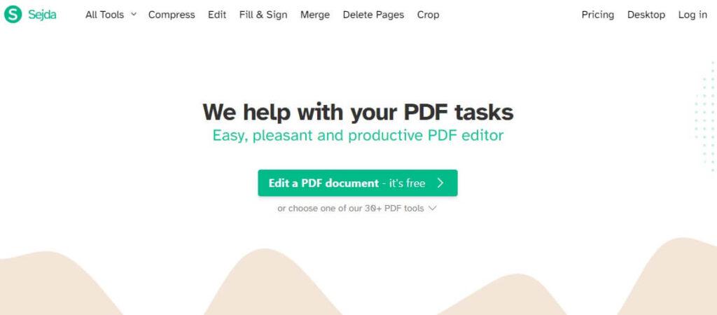 sejda pdf file editor